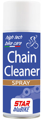 CHAIN CLEANER SPRAY rapidly cleans and degreases bicycle chain